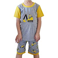 Little Hand Kids Pajama Shorts Pyjamas for Boys Nightwear Set Summer Clothes Oufit 2T-7T