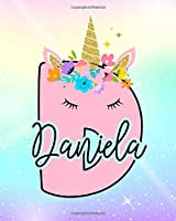 Daniela: Girls Unicorn Journal to Write In | Personalized Journal