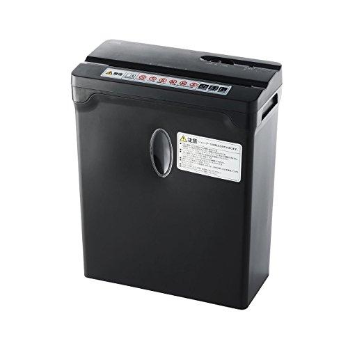 サンワダイレクト シュレッダー 家庭用 電動 クロスカット ホッチキス対応 A4 6枚細断 ブラック 400-PSD030