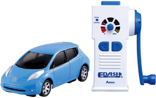 「EDASH」ハンドル回して充電できる電池不要のラジコンカー
