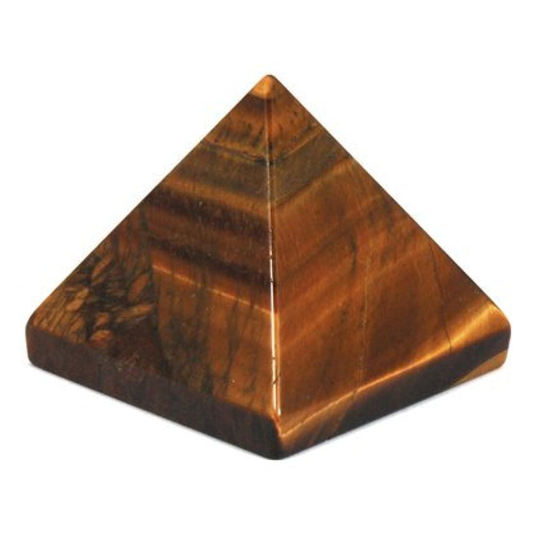 ブロック凍る努力するcrocon Tiger Eye Pyramid GemstoneエネルギージェネレータのレイキHealing Chakra Balancingオーラクレンジング& EMF保護サイズ2 – 2.5インチ