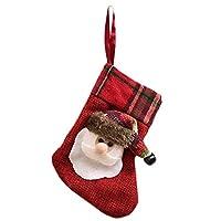 Ruikey クリスマスの装飾 キャンディバッグ クリスマスストッキング エルク 老人 雪だるま柄キャンディバッグ クリスマスのプロップバッグ プレゼントキャンディバッグ  子供用 可愛い 丈夫