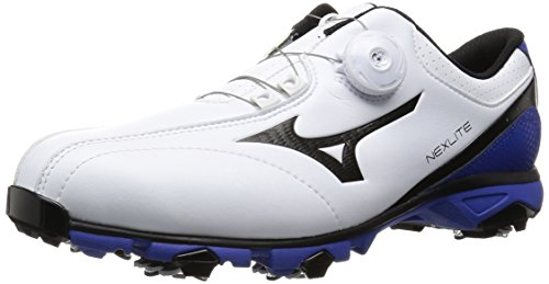 [ミズノ ゴルフ] MIZUNO GOLF NEXLITE 003 Boa ゴルフシューズ 51GM1610 22 (ホワイト×ブルー/265)