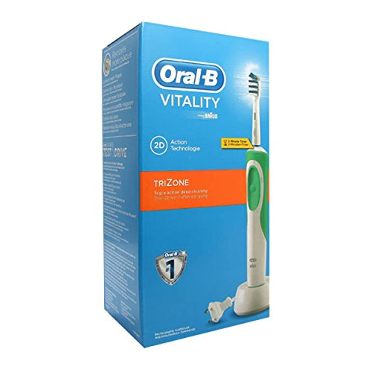 続ける否認する侵略Oral B Vitality Trizone Electric Toothbrush [並行輸入品]