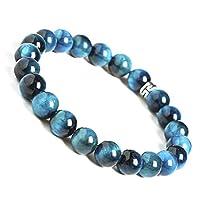 BONNY BOXX Natural Healing Gemstone Bracelet, 8mm Semi Precious Stone Bracelet for Men Women, Stress Relief Crystal Jewelry