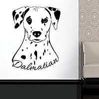 Ansyny ダルメシアン動物ウォールステッカーかわいい犬ビニール壁飾りホームペットウォールアート取り外し可能な子犬犬の壁紙42 * 55センチ