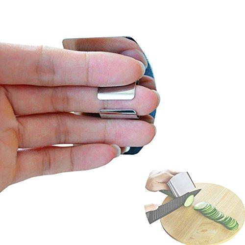 CAMPAM ステンレス製 怪我防止 包丁ナイフ 指ガード 補助器具 野菜や果物の千切り みじん切り アウトドア クッキング バーベキュー料理に Sサイズ (1個)