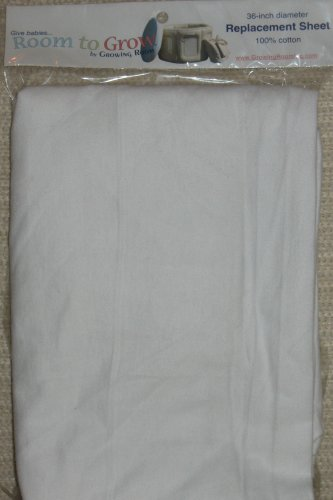 Room to Grow 4-in-1 Single White Fitted Sheet in White by Room to Grow
