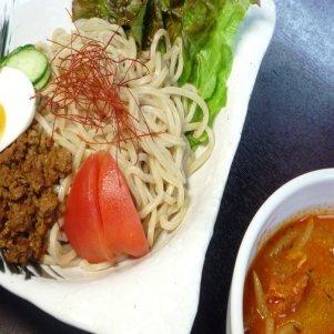 濃厚 トマトつけめん(2食入)具沢山スープ・太麺・肉みそのセットです 冷凍便