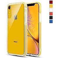 iSpider iPhone XR専用 ケース 衝撃吸収 米軍MIL規格取得 背面カバー 6.1インチ 対応 クリア 全面保護 ワイヤレス充電対応 イエロー
