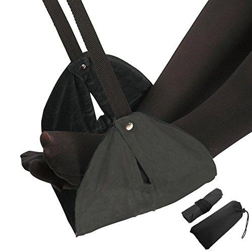Rock Dan(収納ケース付き)フットレスト 足置き 黒 足らくらく トラベルグッズ 飛行機 車用 海外旅行 便利グッズ 機内持ち込み 黒 ピンク ブルー