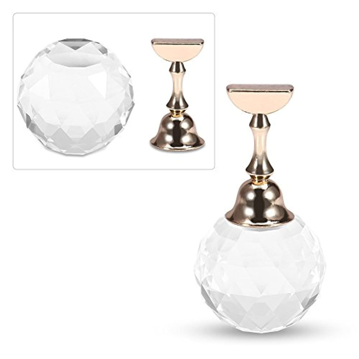 ファイアル交渉する確保する磁気ネイルアート練習ディスプレイスタンドツール(#2白い球状の結晶)