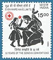 Geneva Conventions 50 years Even Wars have limits Event Rs.15 Indian Stamp