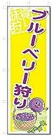 のぼり のぼり旗 ブルーベリー狩り (W600×H1800)