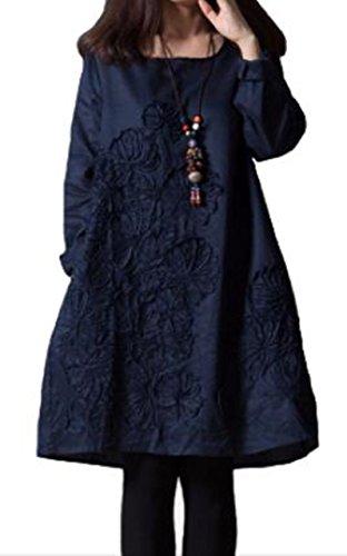 [해외]monrr (모노리리) 여성 자수 원피스 튜닉 4 색 전개 (네이비~ 와인~ 흰색~ 하늘색)/monrr (Monori) Women`s Embroidery One Piece Tunic 4 colors expansion (navy~ wine~ white~ sky blue)