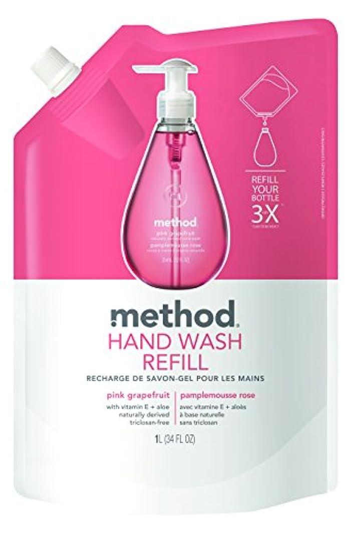 書誌定期的専門メソッド(Method) ハンドソープ ジェル リフィル ピンクグレープフルーツ 1L