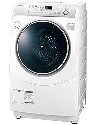 シャープ SHARP ドラム式洗濯乾燥機(ヒーターセンサー乾燥) ホワイト系 右開き(ヒンジ右) 幅640mm 奥行729mm DDインバーター搭載 10kg ES-H10C-WR