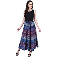 AYAT Cotton Bohemian High-Waisted Women's Skirt Indian Hippie Style One Size Good for Party Holiday Travel