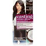 L'Oréal Paris Casting Crème Gloss Semi-Permanent Hair Colour - 200 Ebony Black (Ammonia Free)