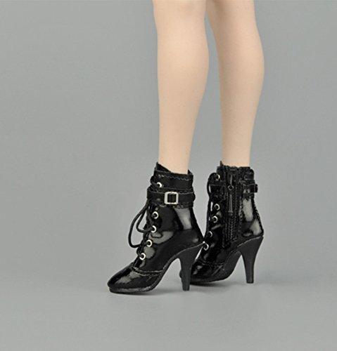 1/6 ブーツ ファスナー&靴纽 フィギュア用 女性 フット...