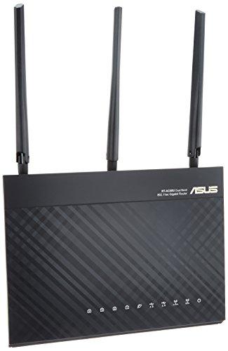 ASUS 1300+600Mbps(11a/b/g/n/ac)ギガビット無線ルーター トレンドマイクロ「AiProtection」対応 RT-AC68U(利用目安環境 最大18台/3階建・4LDK)