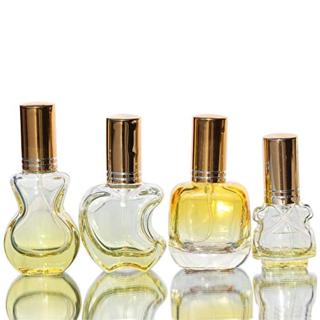 状円形の中断Waltz&F カラフル ガラス製香水瓶 フレグランスボトル 詰替用瓶 空き アトマイザー 分け瓶 旅行用品 化粧水用瓶