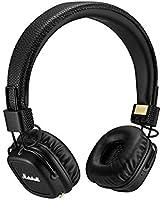 Marshall Major II Bluetooth Headphones, Wireless On-Ear Headphones with Built-in Microphone and Control Knob, Black