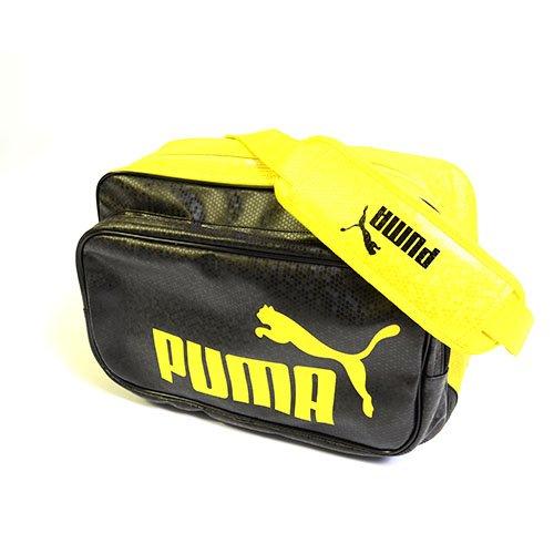 PUMA(プーマ) エナメルバッグ TS マット ASB タイプB ショルダー L ブラック/イエロー 072405-04