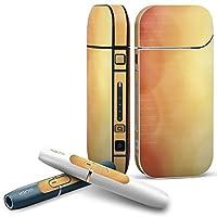 IQOS 2.4 plus 専用スキンシール COMPLETE アイコス 全面セット サイド ボタン デコ ラグジュアリー シンプル オレンジ 002002