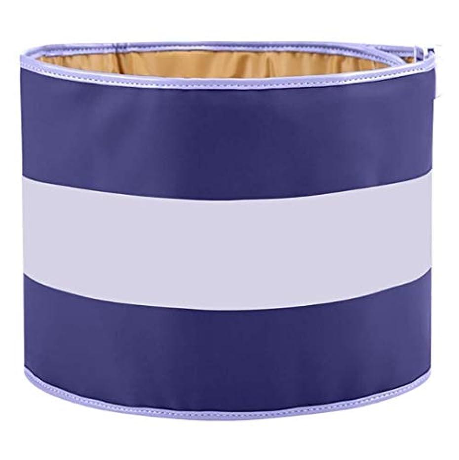 スロープアシスタント留め金ウエストマッサージャー、ウエストヒーティングベルト、Mホットコンプレス、血液循環の促進、3つのモードを調整可能、痛みを和らげ、保温 (Color : Purpleblue)