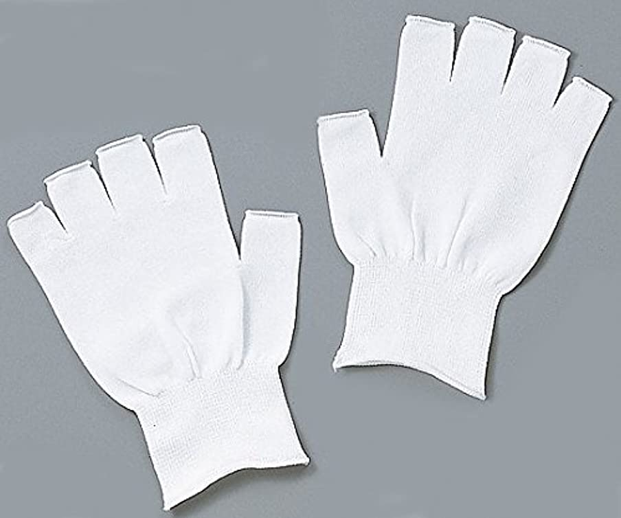 経歴サドル予想するアズピュア(アズワン)1-4293-01アズピュアインナー手袋指先無しフリー10双20枚