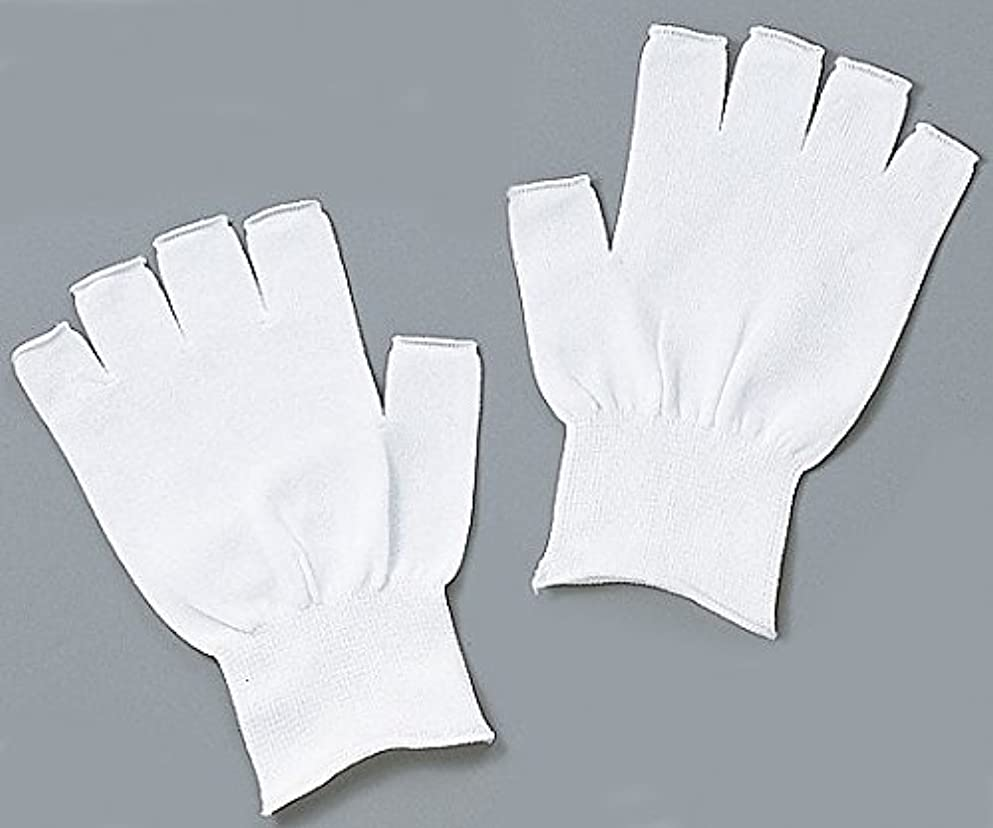ゴネリル洞察力のある仮称アズピュア(アズワン)1-4293-01アズピュアインナー手袋指先無しフリー10双20枚