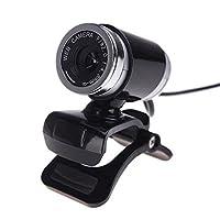 USB 2.012メガピクセルのHDカメラWeb Camマイク付きクリップ式360度デスクトップSkypeコンピュータPCラップトップ透明 LYSB01K9MLT3A-CMPTRACCS
