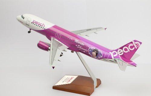 【 150機限定 】 篠田麻里子 エバーライズ エアバス Air bus 1/100 A320 - 200 Peach Aviation ( ピーチ アビエーション ) JA805P [ 5号機 ] Mariko Jet ( プレミア モデル シリアルナンバー 入り 、 木製特別台座 ) 初回限定