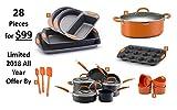 Best 10ピース調理器具セットテフロン加工のセラミックコーティング、グリーン、傷付き、非毒性no PTFE PFOA、カドミウムフリー、高温度耐性。FOODNETWORK Featured