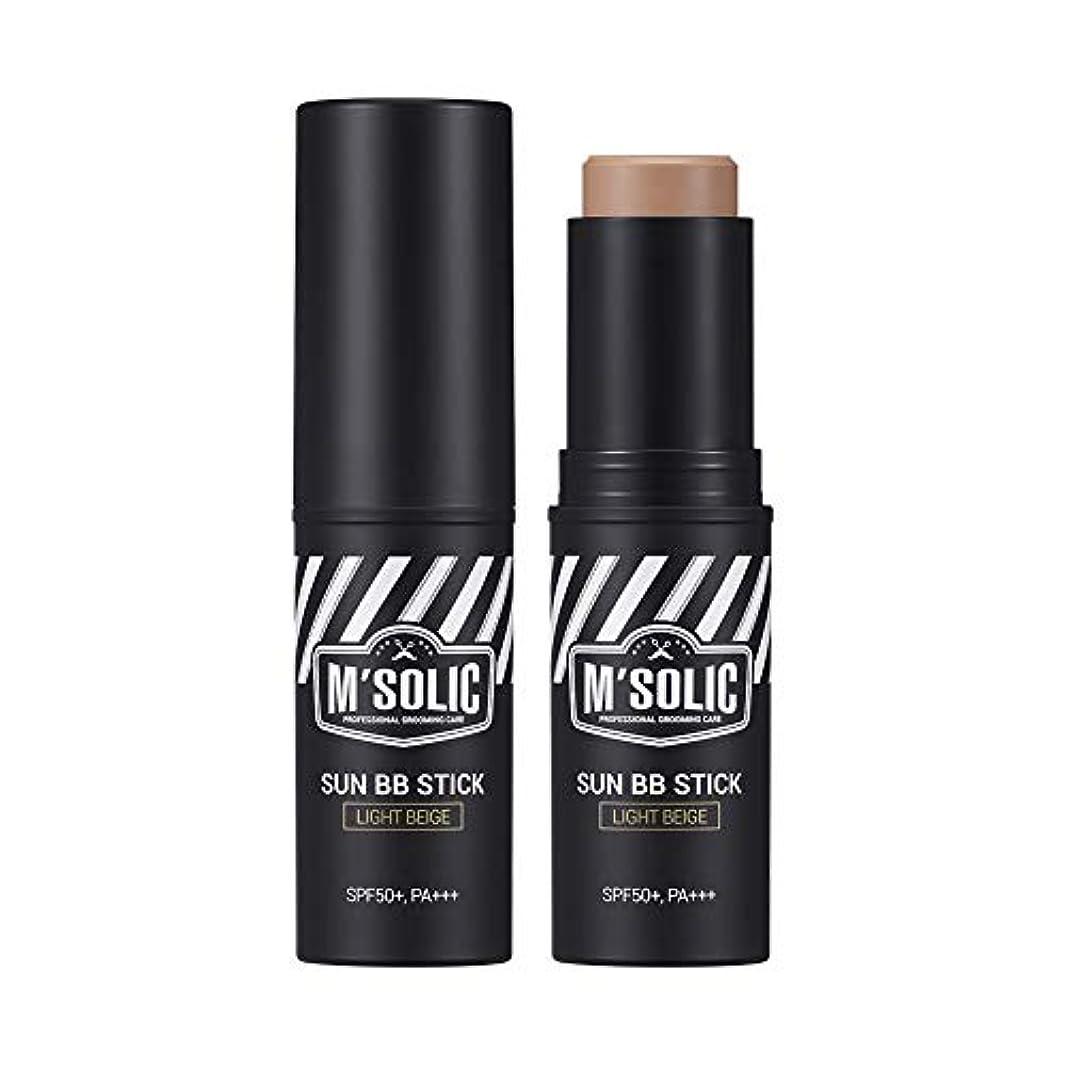 ドック言い訳将来の【SNP公式】 M'SOLIC サン BBスティック/M'SOLIC SUN BB STICK_ LIGHT BEIGE メンズ 韓国コスメ BBスティック サンブロック トーンアップ 男性 スキンケア グルーミング