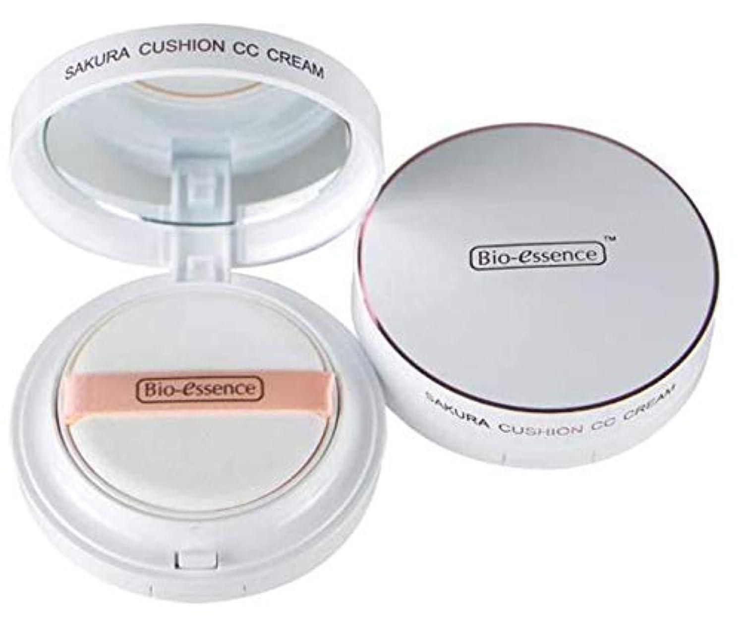 広々連結する持っているBio-Essence チェリークッションCCクリーム15グラム - くすみを改善し、最小有効開口。外部汚染物質が効果的に紫外線を遮断します。