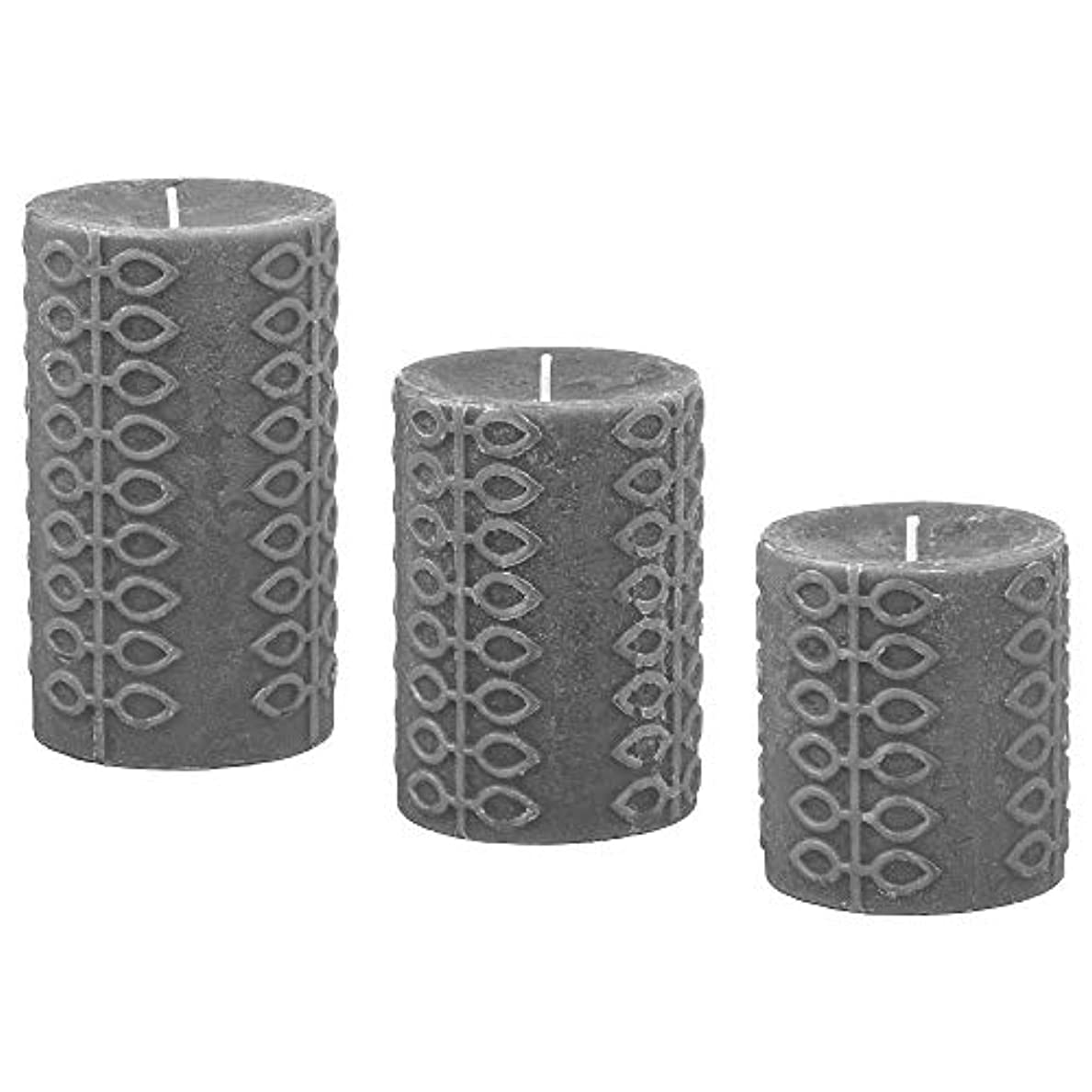 エミュレートするペレット手綱IKEA/イケア NJUTNING:香り付きブロックキャンドル3個セット 花開くベルガモット/グレー(303.505.15)