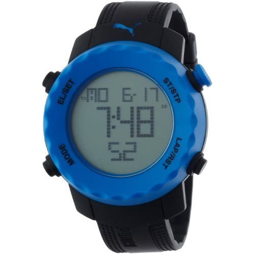 [プーマタイム] PUMA時計 PUMA Time 腕時計 シャープ ブラック ブルー PU911031001 【正規輸入品】