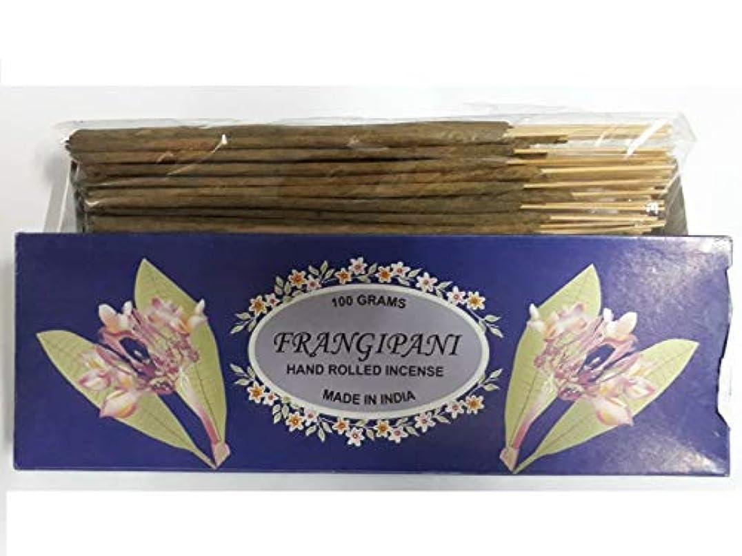 ボウルアイザック神秘Frangipani フランジパニ Agarbatti Incense Sticks 線香 100 grams Hand Rolled Incense