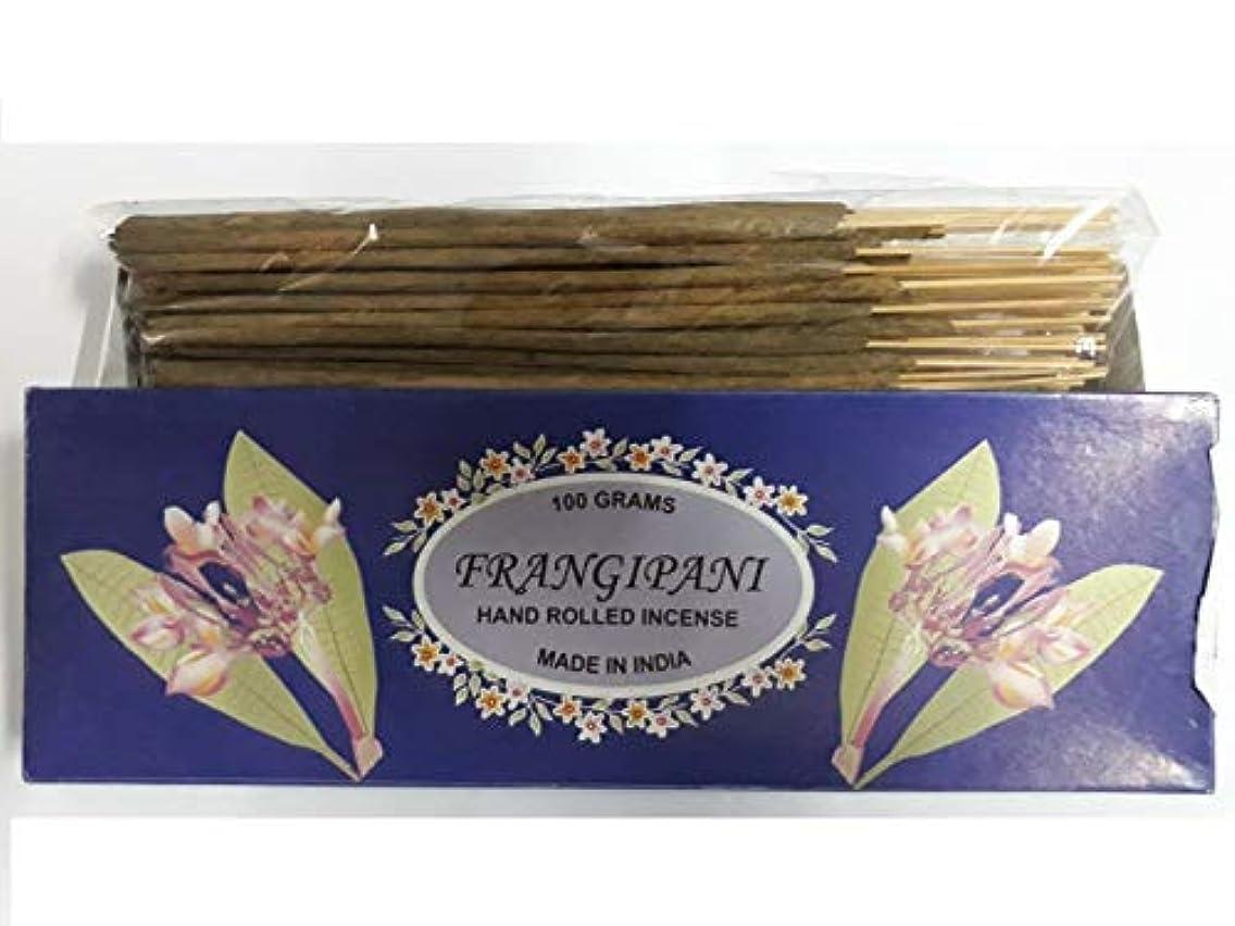 ましいフォーム溶融Frangipani フランジパニ Agarbatti Incense Sticks 線香 100 grams Hand Rolled Incense
