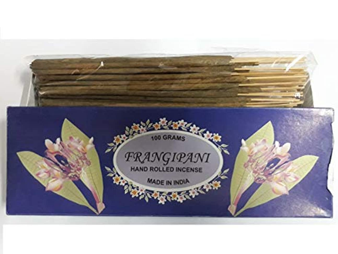 空白ずらすボイドFrangipani フランジパニ Agarbatti Incense Sticks 線香 100 grams Hand Rolled Incense