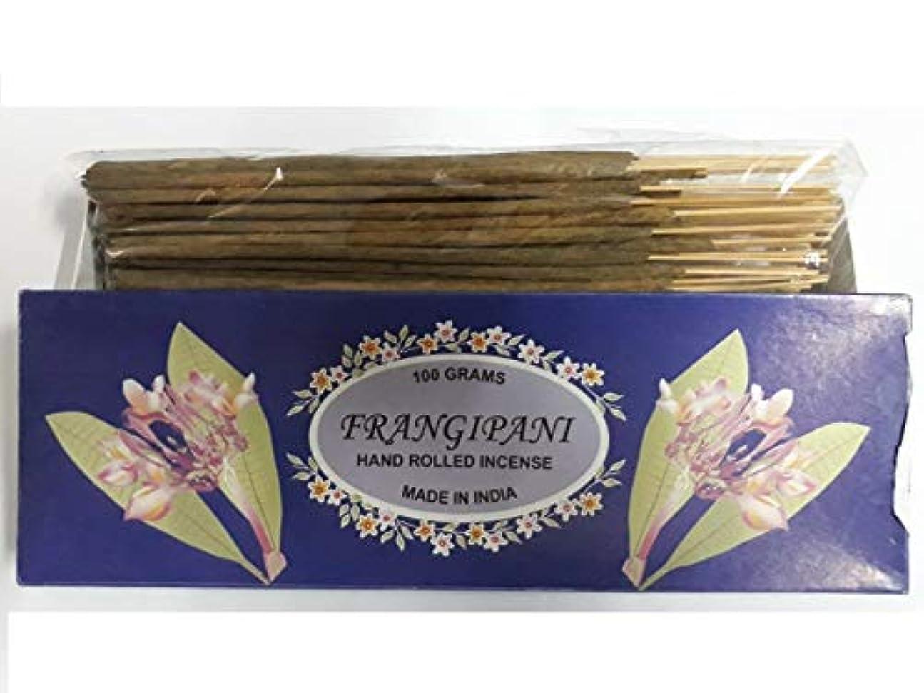 おばあさんリネンウイルスFrangipani フランジパニ Agarbatti Incense Sticks 線香 100 grams Hand Rolled Incense
