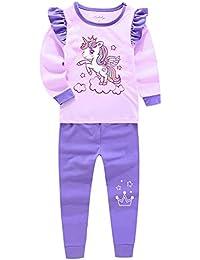 7f88f7cb8db094 光るプリントパジャマ 長袖 綿100% 女の子 子供 ルームウェア 肌着 キッズ 上下セット 寝