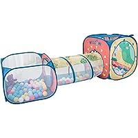子供の遊びのテントトンネル赤ちゃん遊び家屋内遊園地簡単な折り畳みクロール (Color : Pink, Size : 72 * 72 * 249cm)