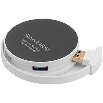 Airbibo USB3.0ハブ 4ポート付き 高速転送 軽量 コンパクト hub バスパワー 一体型ケーブル Windows ノートパソコンなど対応