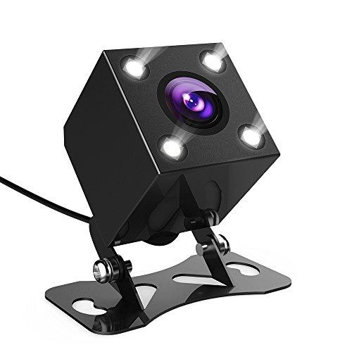 DBPOWER 小型 バックカメラ 高画質CCDセンサー搭載 170度広角 LEDランプ付け 暗視可能 防水等級IP67 角度調整可能 車載カメラ【24ヶ月保証期間】日本語説明書付属