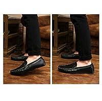 ローファー メンズ 革靴 レザーシューズ 紳士靴 皮靴 ビジネスシューズ スリッポン カジュアルシューズ 通勤 ブラック 春夏 男性用 カジュアルシューズ 27.0cm ウォーキングシューズ ビジネス エナメル 通気性 靴 春 大人 素足 歩きやすい