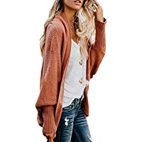 Womens Kimono Batwing Cable Knitted Slouchy Oversized Cardigan Sweater