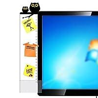 Witkey コンピュータ画面用メッセージボード ディスプレイ用附箋ボード クリエイティブ キュート 透明 ポスト・イット ノートボード